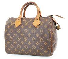 Authentic LOUIS VUITTON Speedy 25 Monogram Boston Handbag Purse #37441