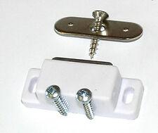 Confezione di 2 BIANCHI MAGNETICO CREDENZA PORTA CHIUSURE + VITI CON 2KG tirare