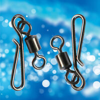 30pcs Carp Fishing Tackle Swivels Quick Change Hooks Rolling Oval Ring Link Clip