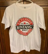 Bintang Bali Indonesia Brewery Pilsener Beer Lager Tee T Shirt White Men M