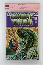 Swamp Thing #1 - CBCS 8.0 VF - DC 1972 - ORIGIN Swamp Thing! Signed!
