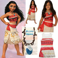 Moana Girls Fancy Dress Disney Princess Hawaiian Book Day Kids Child Costume Lot