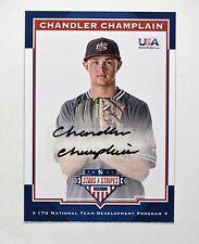 2017 USA Stars & Stripes 17U Signatures Black Ink #6 Chandler Champlain Auto /25