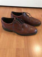 ECCO Mens Plain Toe Brown Leather Oxford Dress Shoe EUR 45