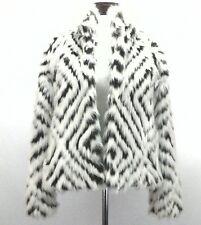 ABERCROMBIE & FITCH Jacket Coat Faux FUR Animal Print Brown Boho Women's S $189