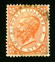 Italy Stamps # 33 VF Used Scott Value $90.00