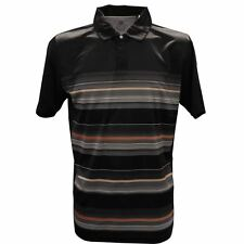 Island Green Concealed Placket Stripe Performance Mens Golf Polo Shirt