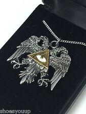 Masonic Knights Templar Byzantine Eagle Pendant & Chain Jerusalem Talisman