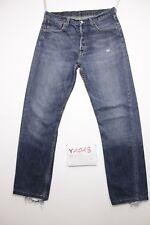Levi's 501 boyfriend accorciato usato (Cod.Y1018) Tg.47 W33 L36 jeans