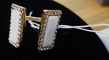 Kate Spade SIMPLICITY Understated Elegance SHELL Cream Gold NWT Crystals Ring 6