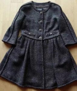 $10K Chanel Tweed 11A Paris Byzance Gripoix Jewel Button Jacket Mid Coat FR 34