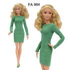 ELENPRIV FA004 Green crepe mini dress for Barbie Pivotal MTM similar dolls