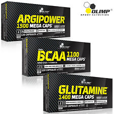 ARGININE + BCAA AMINO ACIDS + GLUTAMINE 90/180 Capsules Muscle Pump & Growth