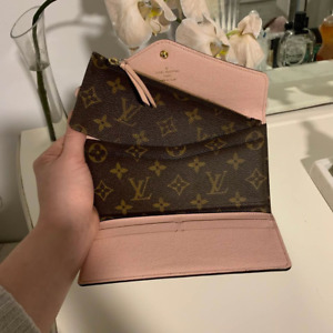 Brown and Pink Josephine Wallet NM Monogram Canvas