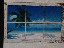 TROPICAL WINDOW 24X36 POSTER WALL ART DECOR SUMMER BEACH ISLAND HAWAII JAMAICA!!