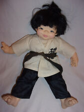"1982 Chopstick Kids Mieler Asian BOY KARATE DOLL 14"" HTF 14"""
