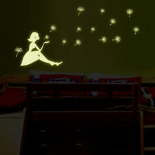 Glow in the Dark Vinyl Wall Stickers Waterproof Dandelion Girl Decor Art DIY