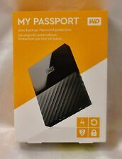 New - WD My Passport  4TB Portable HDD External Hard Drive USB 3.0 2.0 Black
