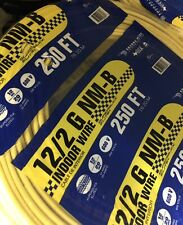 12/2 Indoor Electrical Wire - 250 ft, Yellow
