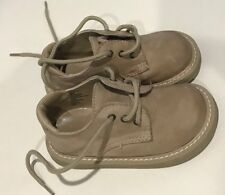 Gymboree Boys Leather Dress Shoes Tan Beige 8 Lace Up