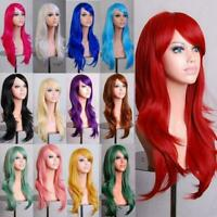 Fashion Lady 70cm Long Curly Wigs Cosplay Costume Anime Hair Full Wavy Party Wig