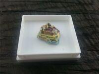 Wismut Bismut regenbogenfarbener Kristall gezüchtet 15 x 15 x 12 mm
