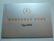 Prospekt Mercedes 540 K, 1.1938, Faksimile 1975, 28 Seiten, geprägtes Cover