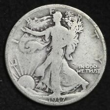 ** 1917-D REVERSE Walking Liberty Silver Half Dollar FREE SHIPPING!