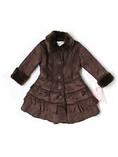 New Toddler Girl American Widgeon Brown Faux Suede Winter Coat Jacket Size 2/2T
