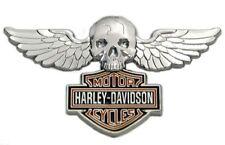 HARLEY DAVIDSON SKULL WINGS DIE CAST HARLEY  PIN