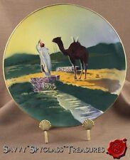 K & G Luneville France Pottery Plaque Middle Eastern Moorish Scene Desert Camel
