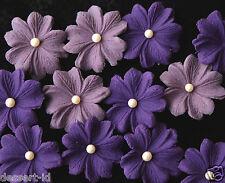 LILAC & PURPLE sugar paste edible flower blossom cupcake topper 3 cm