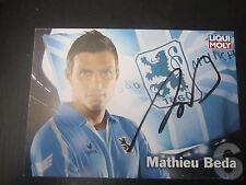 3856 Mathieu Beda original signierte Autogrammkarte 1860 München 09 - 10