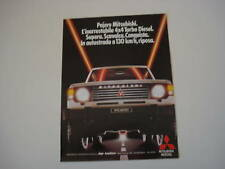 advertising Pubblicità 1985 MITSUBISHI PAJERO 4X4 TD