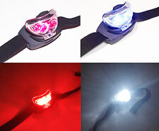 LED HeadTorch with Red Night Vision Light & White Headlamp L.E.D Head Torch Lamp
