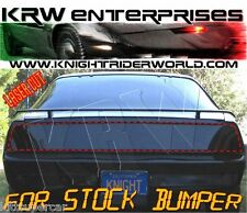 PONTIAC FIREBIRD KNIGHT RIDER KITT REAR TAIL LIGHT BLACKOUT COVER FOR OEM BUMPER