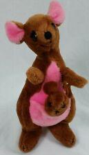 "Vintage Disney Parks Disney Land World Kanga & Roo Plush Toy 12"" Winnie The Pooh"