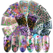 Print Lace Flower Nail Foil Nail Art Stickers Manicure Decor Holographic Decals