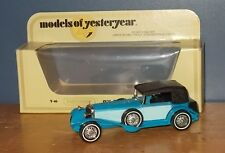 Matchbox Yesteryear Y16 Mercedes Benz SS Coupe Blue Duck Egg Blue Side Panels