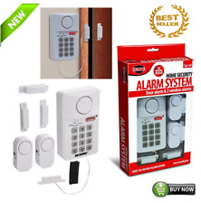Loud Wireless Security System Door 2 Window Sensors Alarm Programmable Key Pad