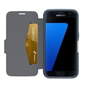 Otterbox - Strada Folio Case for Samsung Galaxy S7 - Night Cannon Blue