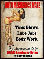 "Auto Mechanics Mate, Retro metal Sign/Plaque, Gift, Home 10"" x 8"" Large"