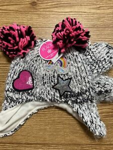 The Children's Place Rainbow Hart Winter Hat And Mittens Size S 12-24 Mos