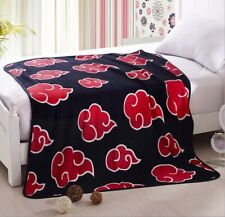 Anime Naruto Akatsuki Soft Warm Coral Fleece Throw Otaku Home Blanket Plush