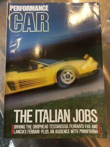 PERFORMANCE CAR MAGAZINE SEP 1988 - THE ITALIAN JOBS