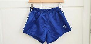 Vintage Adidas Nylon Sprinter Shorts Shiny Glanz Sporthose West Germany D6 M-L