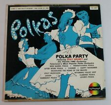 Eddy Gronet & His Polka Time Orchestra ‎– Polka Party, vinyl LP, Colortone