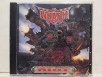 Wraith - Riot 1993 Warhammer Records Rare OOP HTF Heavy Hair Metal Hard Rock