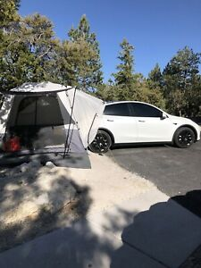 SUV Crossover Tent 9' X 9' Car Camping Tent Instant Pop up Tesla