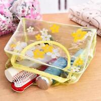 Waterproof Clear Cosmetic Toiletry Travel Wash Pouch Bag Organizer Portable KV